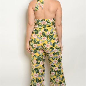 Yellow Floral Jumpsuit